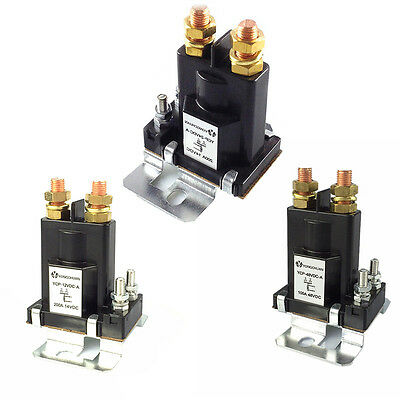 12V/24V/48V DC High Current Relay Contactor On/Off Car Auto Power Switch 200A
