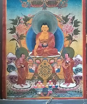 rare tibetan antique buddhism thanka painting