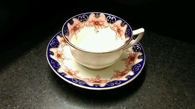 1900's Aynsley Pottery Porcelain Cup and Saucer pattern 3198