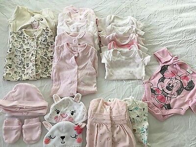 Used girls baby clothes age 1 month