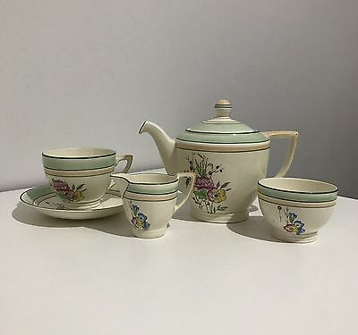 Vintage Mintons England Tea Set For One Fine China Hand painted