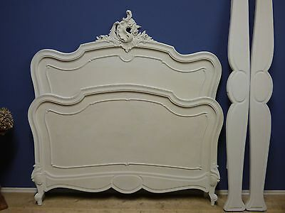 Just Arrived - Lovely Painted Antique French Bed - g176