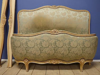 VINTAGE FRENCH DOUBLE BED - Good Quality Carved Detail - g170