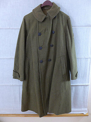 WW1 ORIGINAL US ARMY Overcoat Wool Enlisted Men Winter Mantel Wollmantel 1917