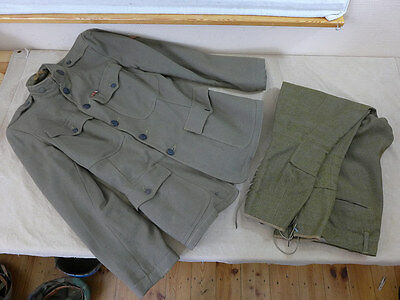 WW1 ORIGINAL US ARMY Tunic & Pants 1918 Uniform Jacke u. Hose Stiefelhose 1918