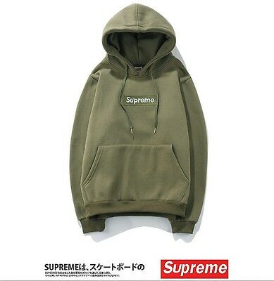 New 12 colors Supreme 2017 Box Logo Hoodie Size S~2XL Sweater Hip-hop Sweatshirt