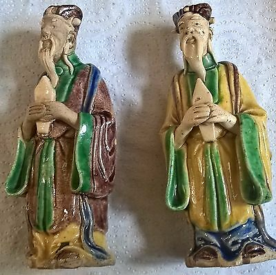 rare ming chinese porcelain statues