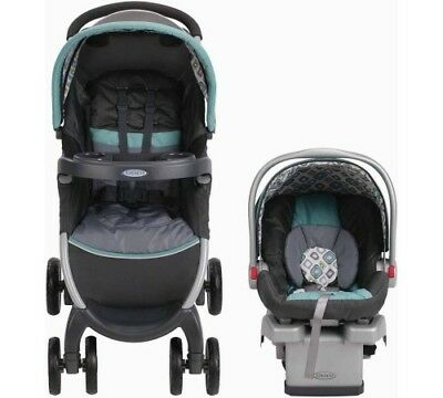 Graco FastAction Fold Click Connect Travel System, Car Seat Stroller Combo, Choo