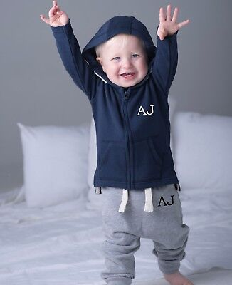 Personalised Initials First Tracksuit ~ Up To 3 Years ~ Navy, Grey Or Black
