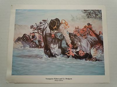 """Collectible """"Trumpeter Fisher and Lt. Hodgson"""" Print signed by Ralph Heinz"""