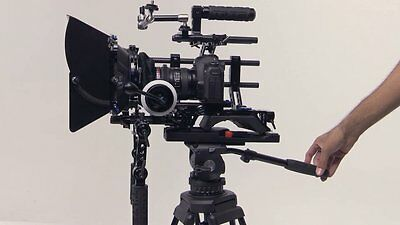 Tilta shoulder rig, base plate, 4 x 4 carbon fiber matte box, follow focus and c