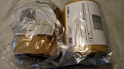 3M Gold Stikit sandpaper discs ,lot of 2, 80 and 150 grit 5 inch