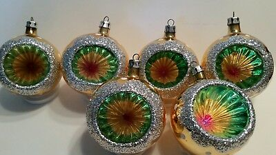 Vintage Christmas  Indent Glass Ornaments  POLAND