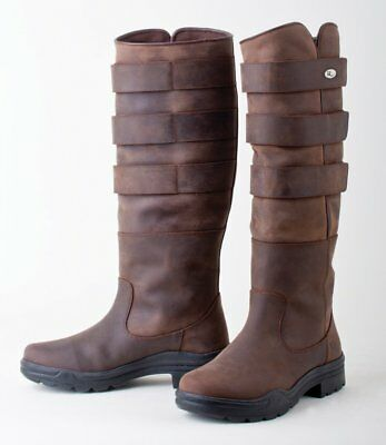 Rhinegold Waxy Leather Colorado Country Muck Horse Riding Boot Black or Brown
