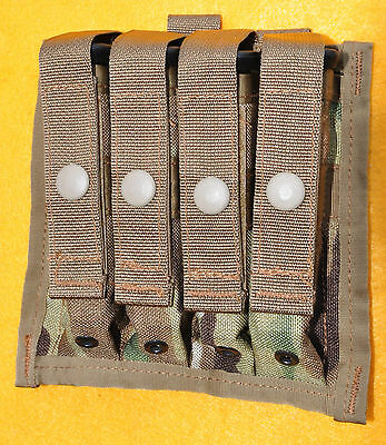 Quad 9mm Mag pouch  Crye Multicam  Brand new  Holds four service pistol mags