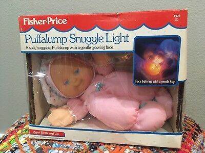 Vtg NOS Puffalump Snuggle Light Pink Doll Fisher Price NRFB 1372 1991 Glowing