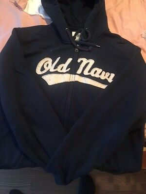 Blue Old Navy Men's Hooded Jacket Size: Large