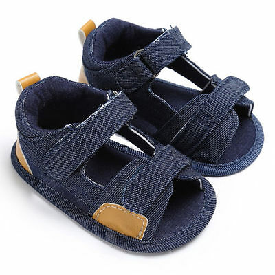 Infant Baby Kids Girl Boy Soft Sole Crib Sandals Toddler Newborn Sneakers Shoes