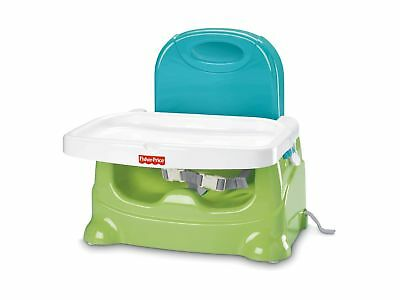 Fisher-Price Healthy Care Booster Seat Green/Blue Standard Packaging