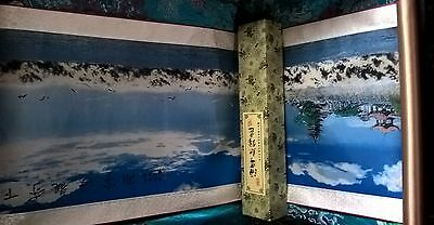 chinese silk scroll painting