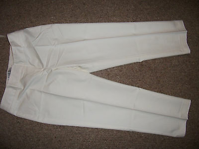 vintage style cropped rock-n-roll 1950s cream pedal pushers trousers 10