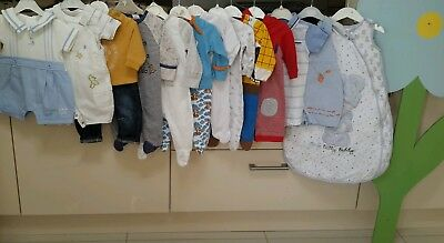 0/3 Months Baby Boys Large Clothes Bundle All Mixed Brands