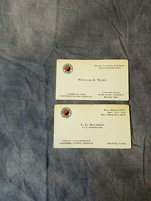 NORTHERN PACIFIC RAILWAY Vintage Business Cards - 1960s Railroad