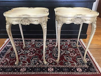 Spectacular Vintage French End Tables