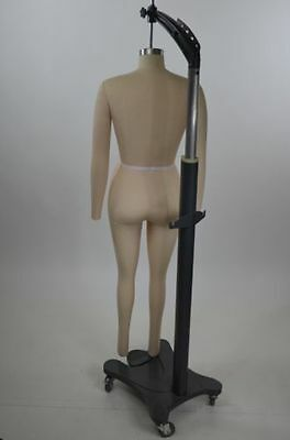 Mannequin Female Dress Form Full Body Hanging Rolling Stand Costume Size 10