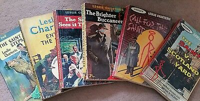 "Collectable books. 6 Leslie Charteris ""Saint"" paperbacks from the late 1950s."