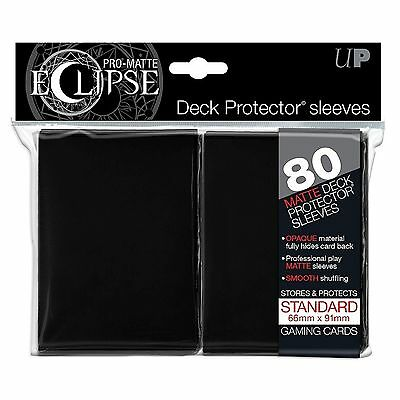 80 Ultra Pro Eclipse Black Pro Matte Deck Protector Sleeves Brand New