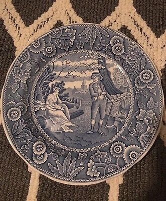 The Spode Blue Room Collection Woodman Plate