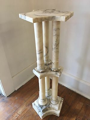 antique marble plant stand
