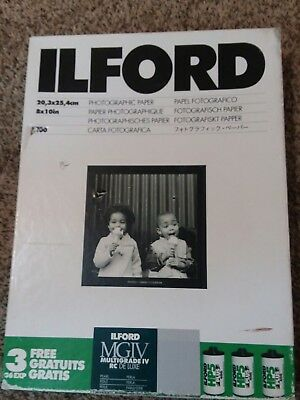 Ilford MGIV PEARL medium weight 190 Photographic Film Paper 8x10 75 pages