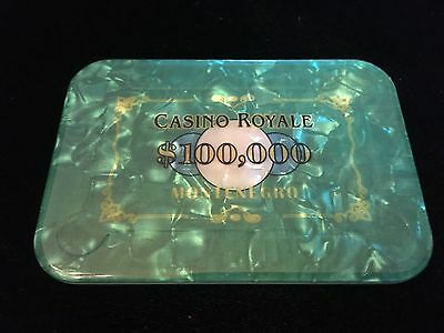 Single $100,000 CASINO ROYALE JAMES BOND 007 POKER PLAQUE_Going FAST_Buy NOW!