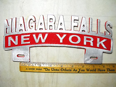 License Plate Topper New York Niagara Falls  Red
