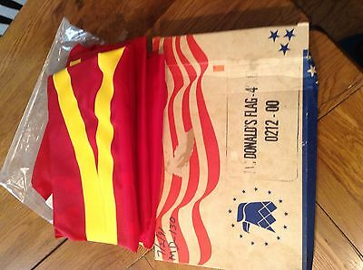 mcdonalds restaurant flag 4x6 new in box fast food advertising