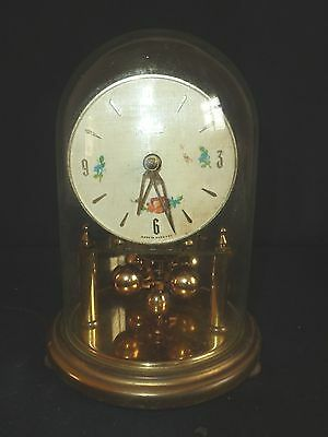 Small Kundo Carrage Clock With Glass Dome - No Key