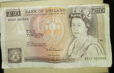 10 Pound Sterling Note Florence Nightingale Bank Of England Out Of Circulation