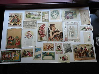 Victorian trade cards lot1  50 pieces