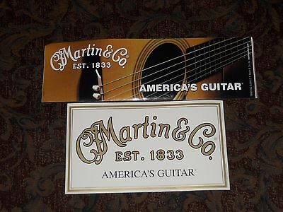 2 Martin Guitar Stickers From The Martin Factory EST. 1833 New