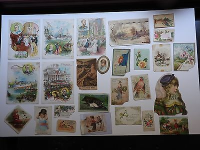 Victorian Trade cards Lot 3  50 pieces