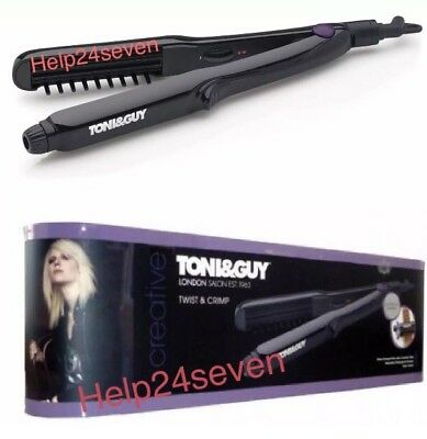 TONI&GUY TGST2995UK Womens Twist and Crimp Hair Shine Crimper Styler 220°C Black