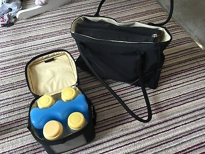 Medela Citystyle Breastfeeding Bag With Coolpack And Bottles