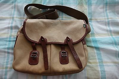 Vintage Barbour Leather and Canvas Fishing Bag