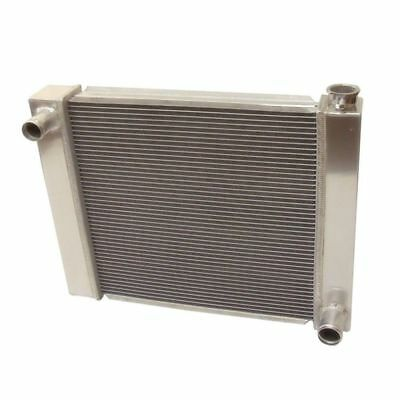 "2 Row Fabricated Aluminum Radiator 24"" x 19"" x 3'' Overall For SBC BBC Chevy GM"