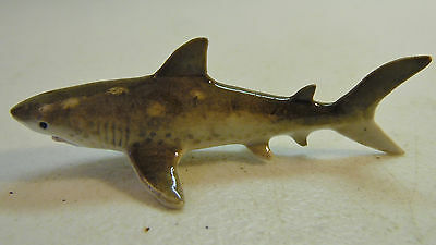 Fine Porcelain Shark Miniature Figure Beach Nautical Decor