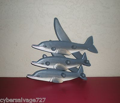 Dolphin Clothes Rack Coat Rack Hanging Type Or  Wall Art Decor Wooden Hand Made