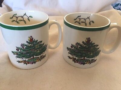 Set Spode Mugs Coffee Cups Christmas Tree Set Of Two