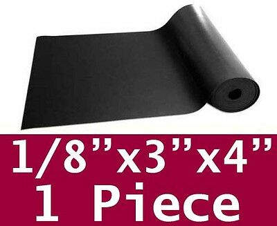 "1/8"" thick Neoprene Rubber Sheet 3"" x 4"" Long Black 60 Duro 48hr FREE SHIPPING"